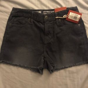 Corduroy high waisted shorts